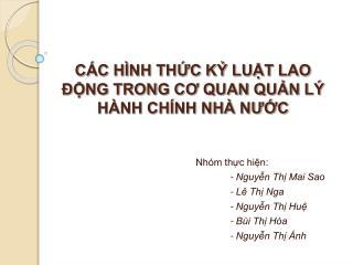 C C H NH THC K LUT LAO  NG TRONG CO QUAN QUN L  H NH CH NH NH  NUC
