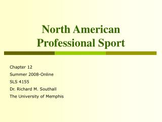 North American Professional Sport