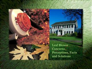 Leaf Blower  Concerns, Perceptions, Facts and Solutions