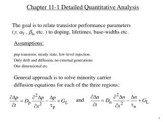 Chapter 11-1 Detailed Quantitative Analysis