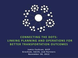 CONNECTING THE DOTS:   LINKING PLANNING AND OPERATIONS FOR BETTER TRANSPORTATION OUTCOMES  Jamie Cochran, AICP Gresham,