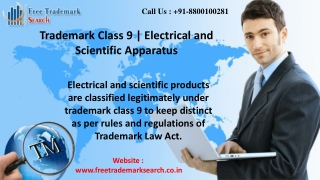 Trademark Class 9 | Electrical and Scientific Apparatus