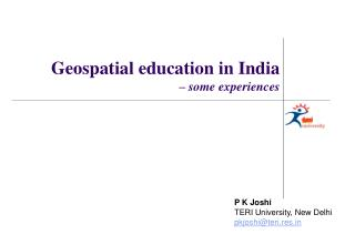 P K Joshi TERI University, New Delhi pkjoshiteri.res