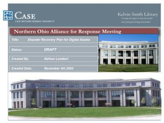 Northern Ohio Alliance for Response Meeting