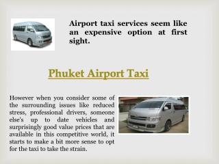 Taxi Phuket Airport