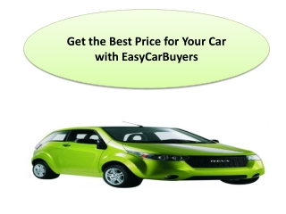 Get the Best Price for Your Car with EasyCarBuyers