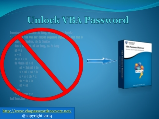 Excel VBA Password Recovery