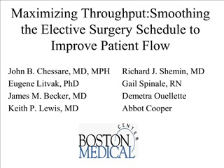 maximizing throughput:smoothing the elective surgery schedule to improve patient flow