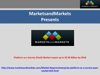 Platform as a Service (PaaS) Market worth $6.94 Billion by 2