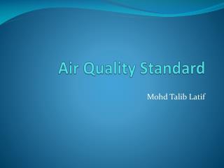 Air Quality Standard