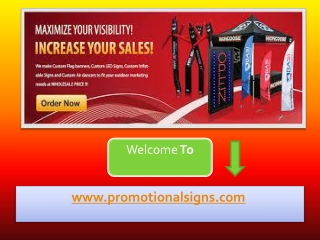 Always Use Attractive Flag Banners As Promotional Signs