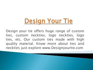 Custom School Ties  and Neckties - Design Your Tie