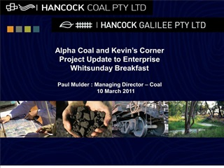 alpha coal and kevin s corner project update to enterprise whitsunday breakfast