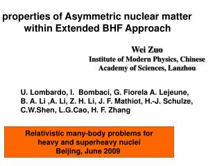 Properties of Asymmetric nuclear matter         within Extended BHF Approach