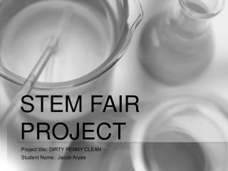 STEM Fair Project