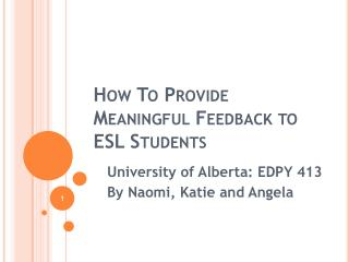 how to provide meaningful feedback to esl students