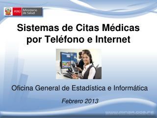 Sistemas de Citas M dicas por Tel fono e Internet