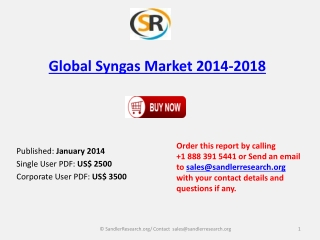 Global Syngas Market 2014-2018 Strategies and Forecast