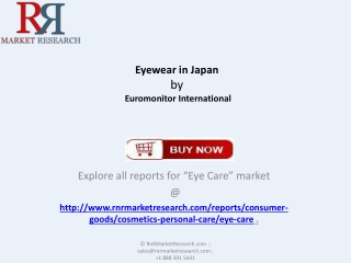 Eyewear Industry in Japan Forecasts to 2018