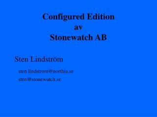 Configured Edition av Stonewatch AB