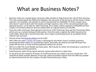 What are Business Notes