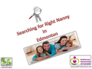 Edmonton nannies searching