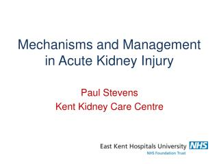 Mechanisms and Management in Acute Kidney Injury