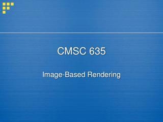 CMSC 635