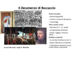 Il Decameron di Boccaccio