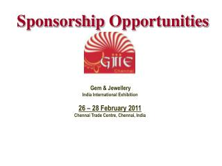 Sponsorship Opportunities Gem  Jewellery India International ...