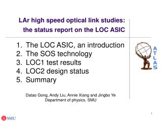 LAr high speed optical link studies:  the status report on the LOC ASIC
