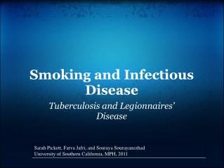 Smoking and Infectious Disease
