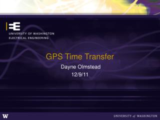 GPS Time Transfer