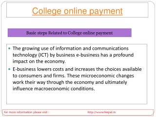 online payment for college fees  project through tihe feepal