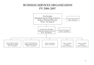 Vice President Information Systems, Business Services, Budgets, Planning  Research 1244   Pay Grade G