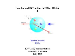 Small-x and Diffraction in DIS at HERA I           Henri Kowalski DESY   12th CTEQ Summer School  Madison - Wisconsin  J