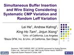 Simultaneous Buffer Insertion and Wire Sizing Considering Systematic CMP Variation and Random Leff Variation