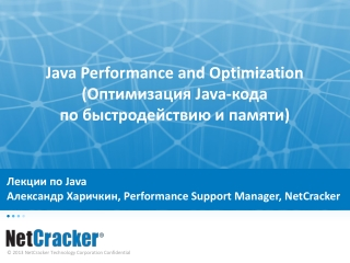 Java SE - Performance And Optimization