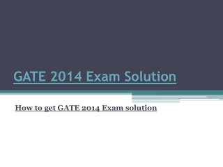 GATE 2014 exam solution