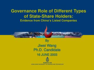 Governance Role of Different Types of State-Share Holders: Evidence from China s Listed Companies