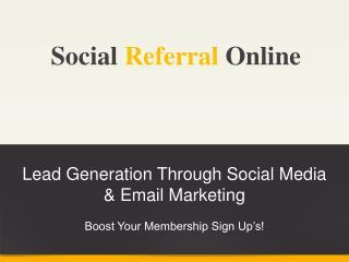 Social Referral Online