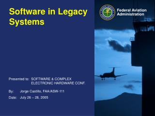 Software in Legacy Systems