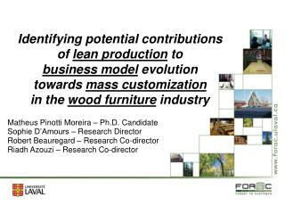 Identifying potential contributions  of lean production to  business model evolution  towards mass customization  in the