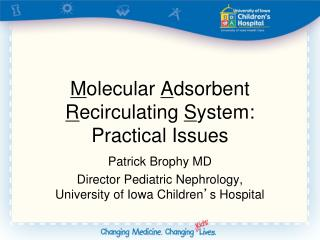 Molecular Adsorbent Recirculating System: Practical Issues