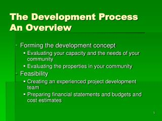 the development process an overview