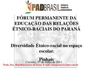 F RUM PERMANENTE DA EDUCA  O DAS RELA  ES  TNICO-RACIAIS DO PARAN   Diversidade  tnico-racial no espa o escolar. Pinhais