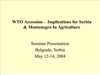 wto accession -  implications for serbia  montenegro in agriculture