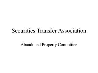 securities transfer association