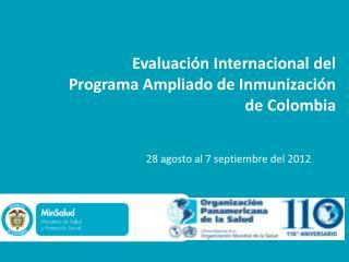 Evaluaci n Internacional del Programa Ampliado de Inmunizaci n  de Colombia