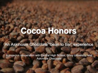 Cocoa Honors